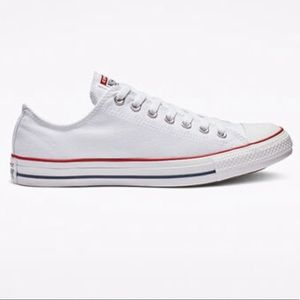 Converse low white sneakers